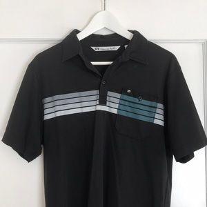 Travis Mathew black polo shirt
